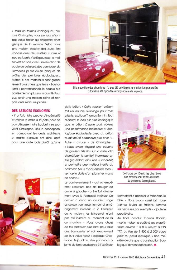 Maison vivre bois 2012 agence qa q uinze a rchitecture - Maison a vivre magazine ...